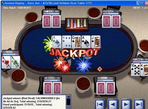 Parx casino poker bad beat
