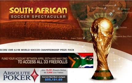 South African Soccer Absolute Poker