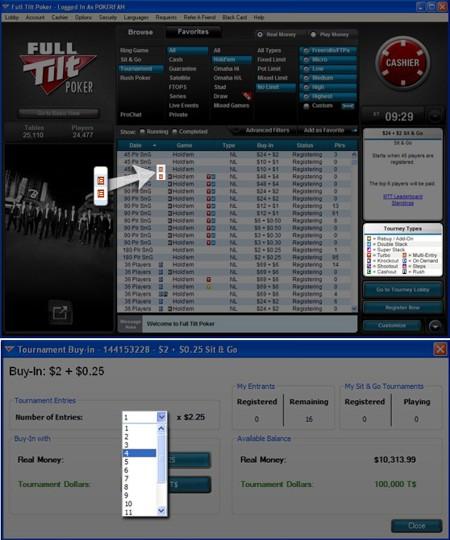 multi entry tournaments full tilt